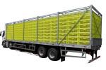 Carroceria para Transporte de Aves Vivas - 4º Eixo (540 caixas)